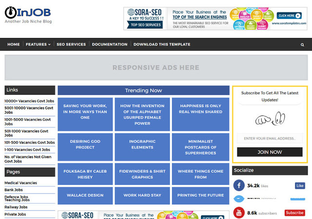 InJob Blogger Template Nulled