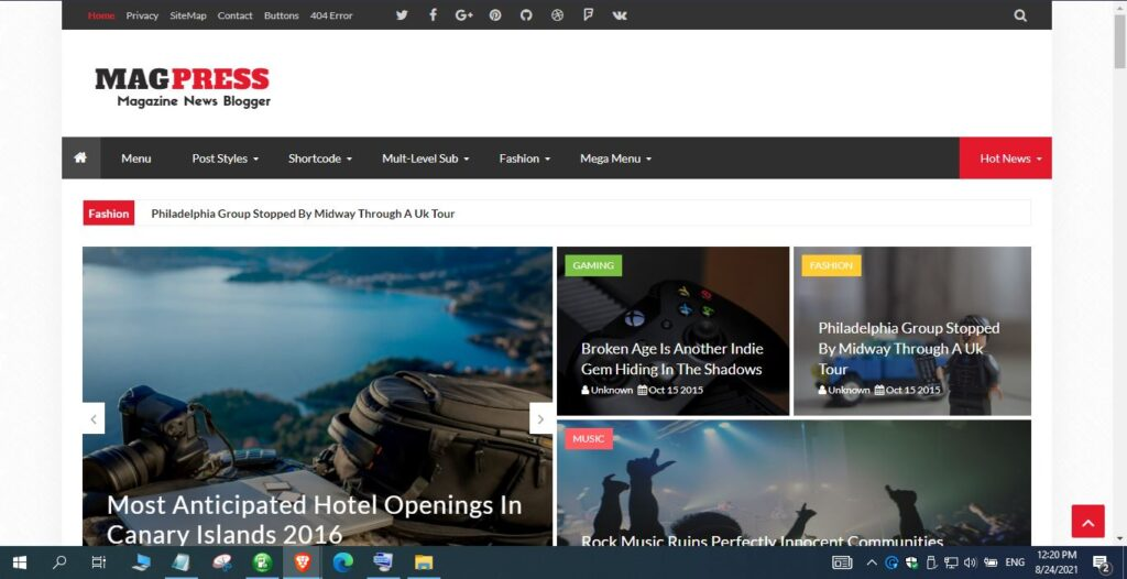 Download Free Magpress Blogger Template Nulled