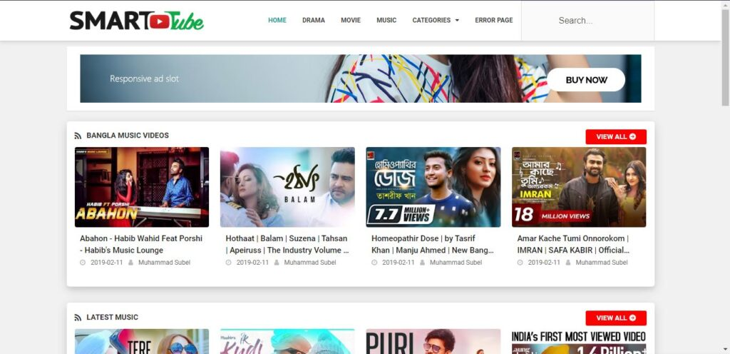 Main Features of Smart Tube Blogger Template